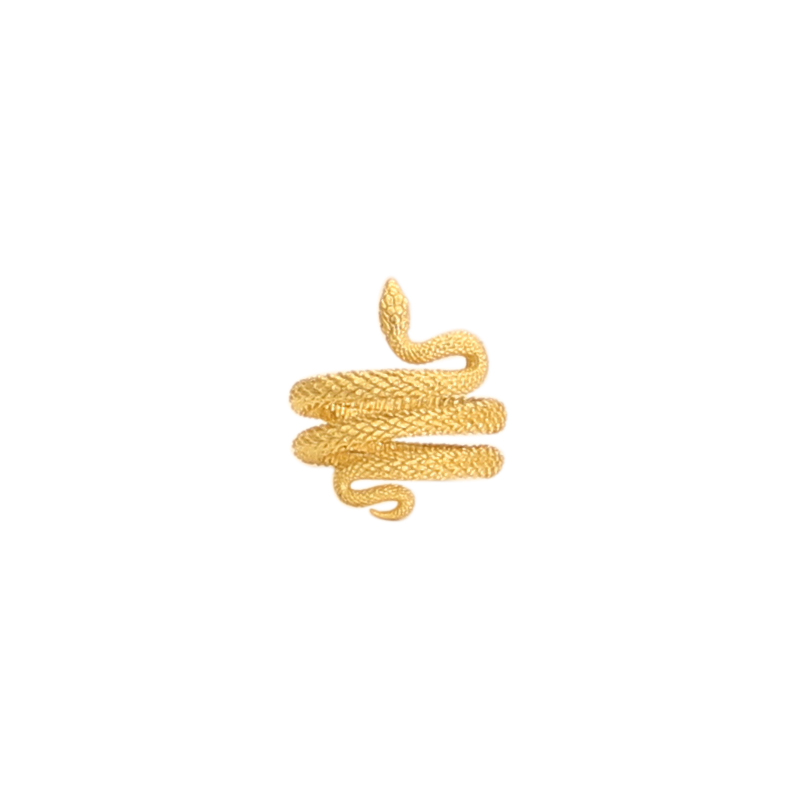 GOLDPLATED-SNAKE-SPIRAL-RING