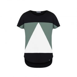 Camiseta Pitágora aequilaterus negro - verde