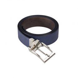 Cinturón reversible azul marrón Canussa