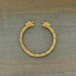 Pulsera dragón bañada en oro