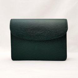 Bolso de piel grabada verde