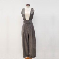 Peto pantalón lana fría gris claro rayas