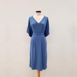 Vestido kimono punto de viscosa azul claro