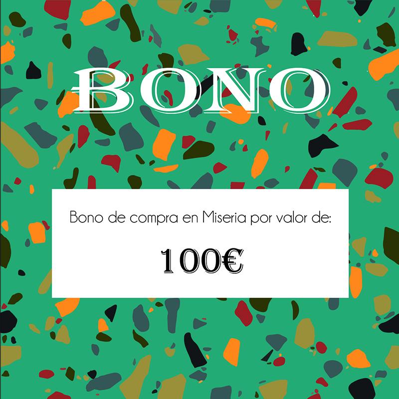 Bono canjeable en tienda de 100€