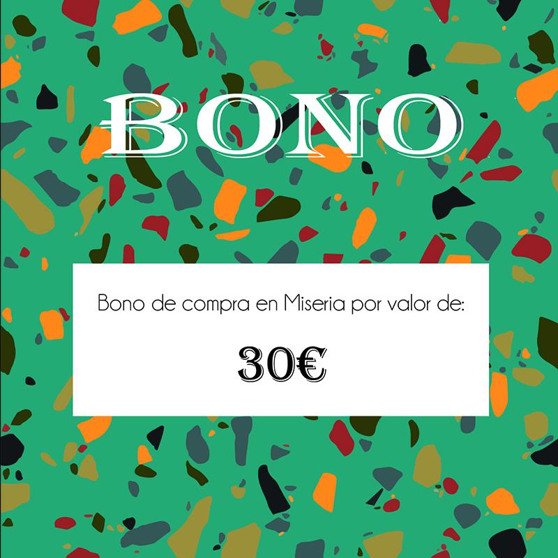 Bono canjeable en tienda de 30€