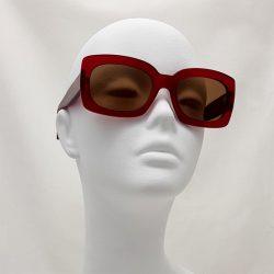 Gafas cuadradas rojo
