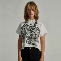 Camisa blanco roto Angry Snakes