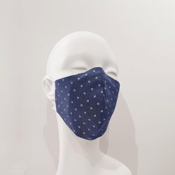 Mascarilla de algodón reutilizable denim