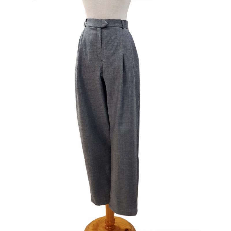 Pantalón pinzas estrecho lana jaspeado azul