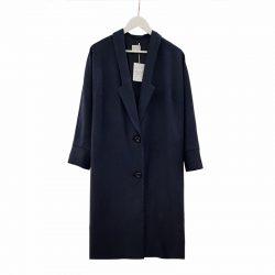 Abrigo solapa lana azul