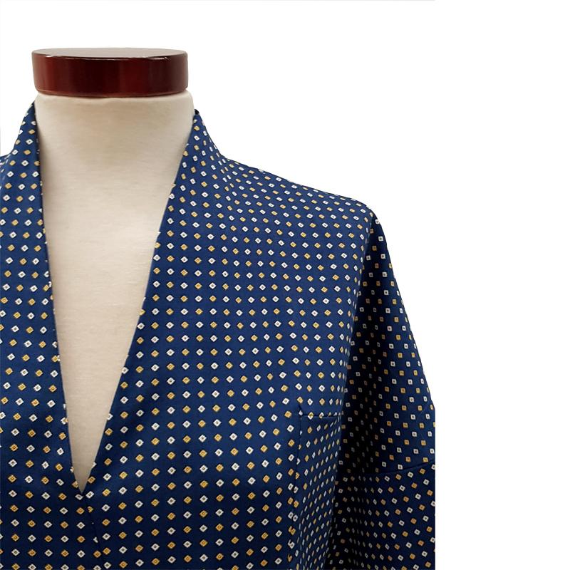 Khoa-blusa-kimono-algodón-azul