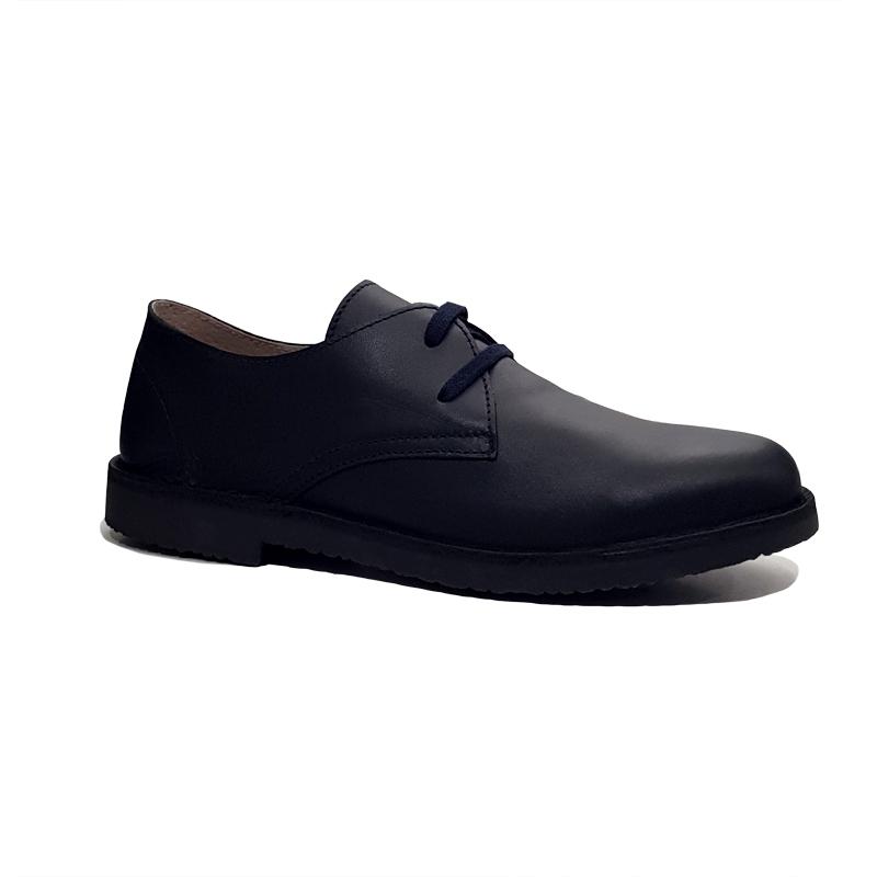 Zapatos cordones azul petróleo