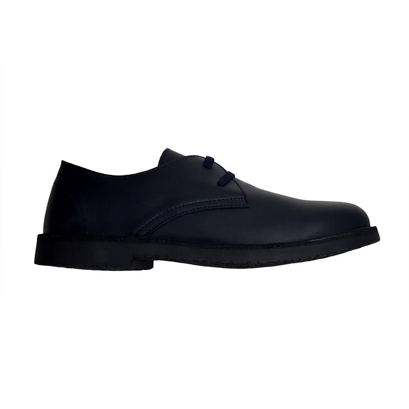Zapato Oxford azul petróleo