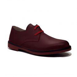 Zapatos cordones burdeos