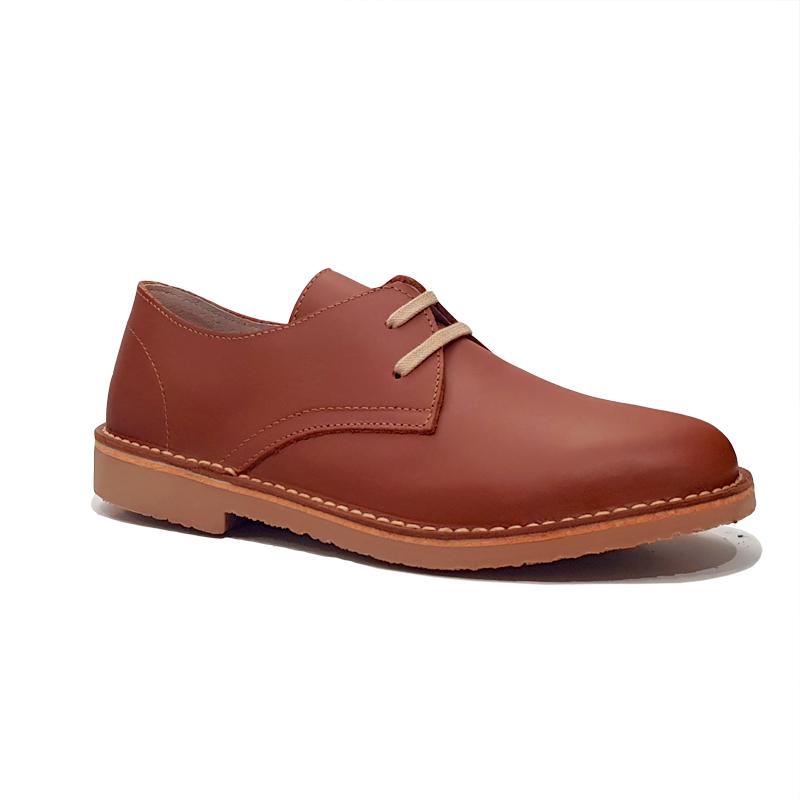 Zapatos cordones color cuero