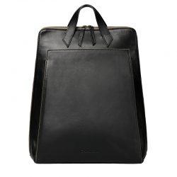 Mochila Urban Backpack negro cremallera gris