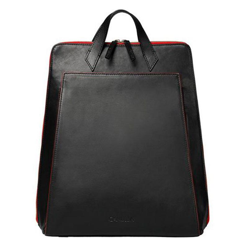 Mochila Urban Backpack negro cremallera roja