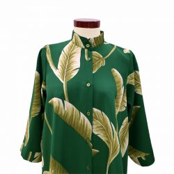 Camisa capa crepe verde hojas