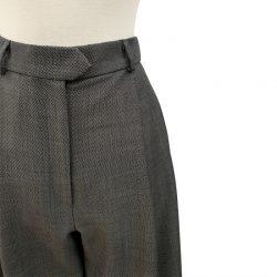 Pantalón pinzas ancho lana fría negro-blanco