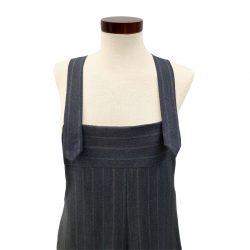 Peto lana fría gris azulado rayas