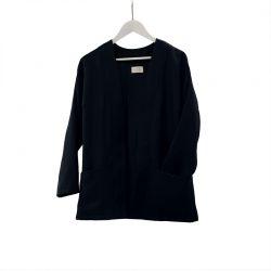 Blazer abierto lana fría azul oscuro
