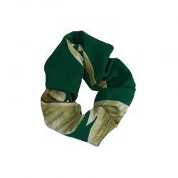 Coletero elástico crepe verde hojas