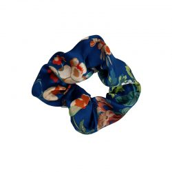 Coletero elástico seda azul flores
