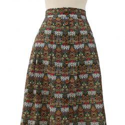 Falda con botones algodón flores