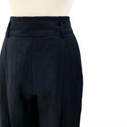 Pantalón pinzas lana fría azul oscuro