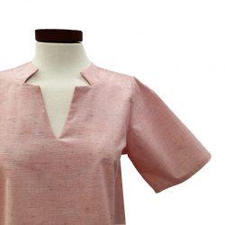 blusa algodón orgánico jaspeada
