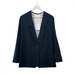 Blazer solapa lana fría azul cuadros