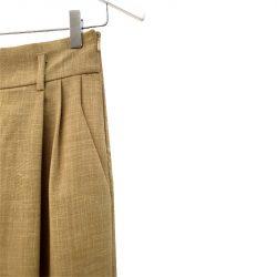 Pantalón pinzas lana fría caqui