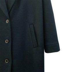 Abrigo solapa lana azul marino