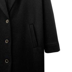 Abrigo solapa lana negro
